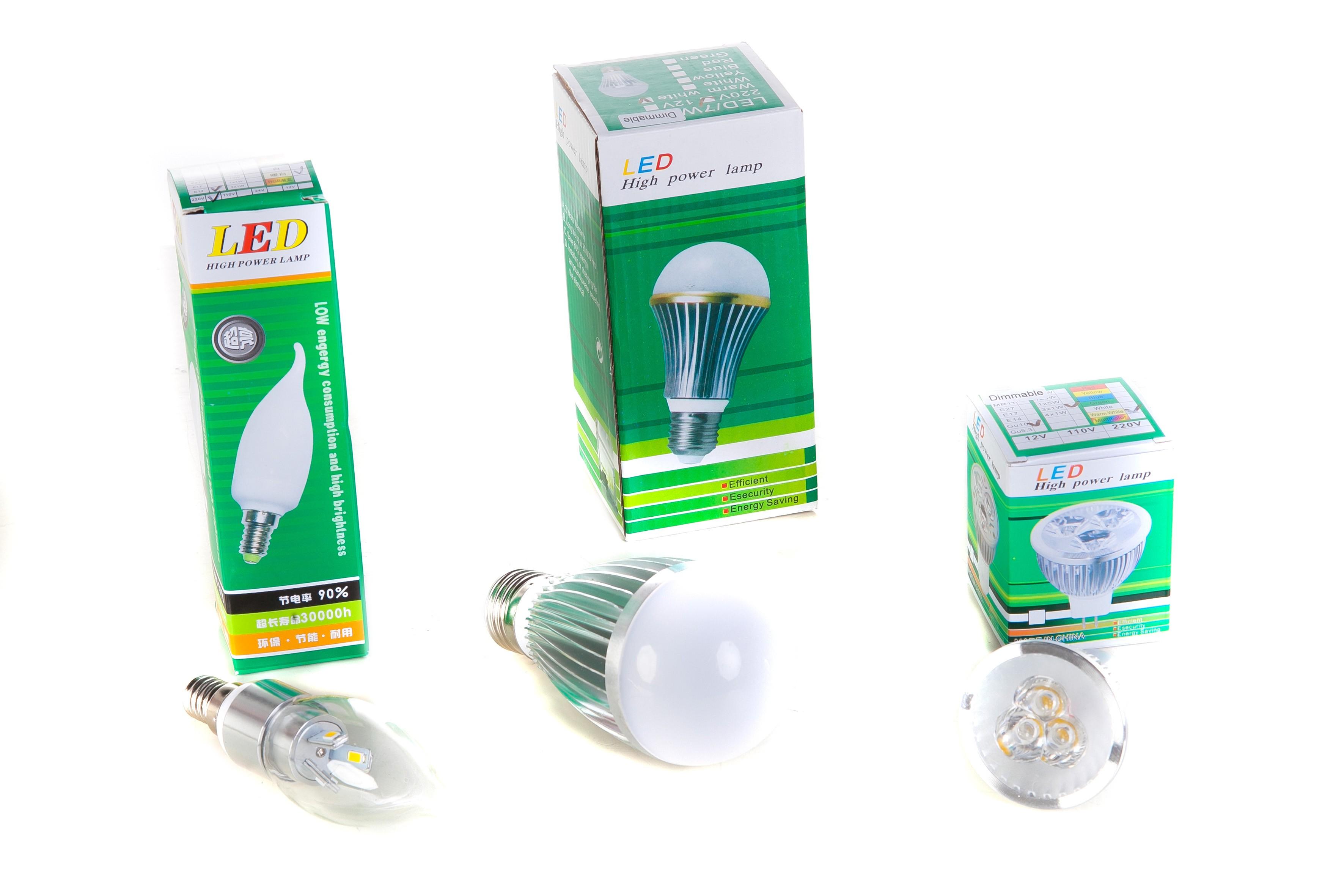 LED bespaarbox 1 - 9 stuks ledlampen