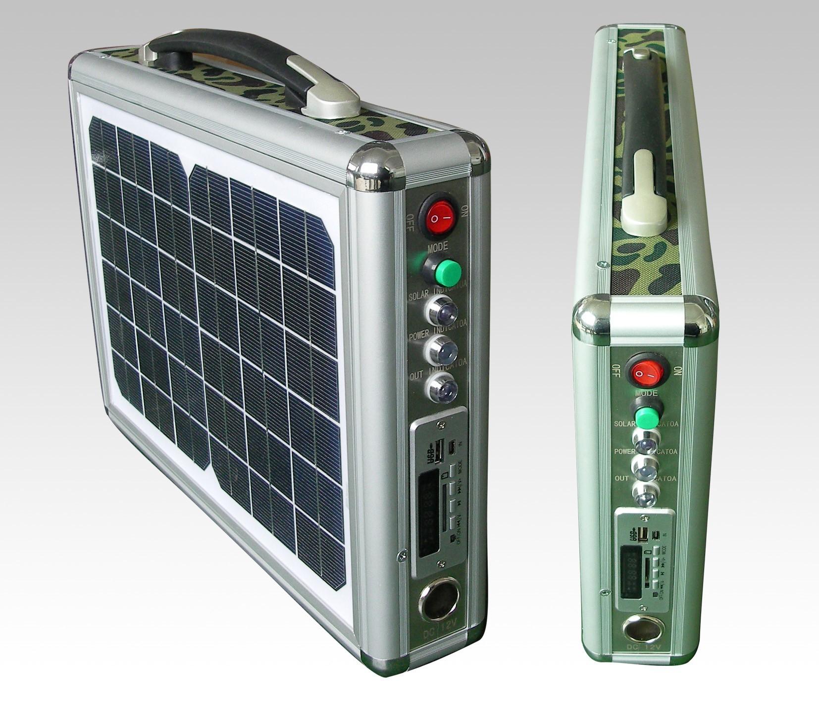 Draagbare 12V stroomgenerator op zon energie 10 watt
