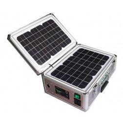 Draagbare 12V / 220V stroomgenerator op zon energie 30watt