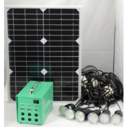 6 led lampen met accu op zonne energie